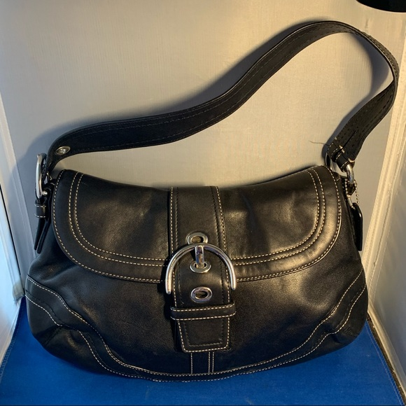 Coach Handbags - Coach Soho Hobo Black Leather Buckle Shoulder bag